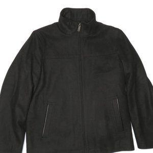 Perry Ellis Mens Wool Blend Zip Jacket Coat Medium